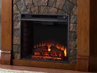 Carbon loft Fleming Antique Oak Electric Fireplace
