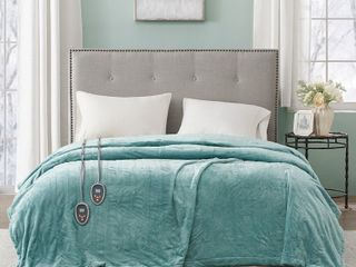 Beautyrest Heated Plush Secure Comfort Blanket   King