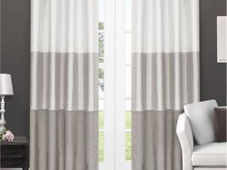 Porch   Den Ocean Striped Window Curtain Panel Pair with Grommet Top   Set of 2