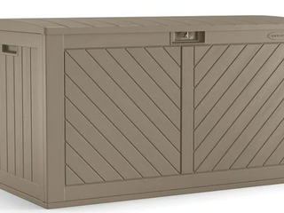 Suncast 134G Outdoor Deck Box Pool Backyard Storage