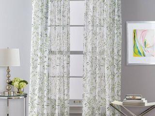 Santa Barbara Voile Rod Pocket Curtain Panels   Set of 2