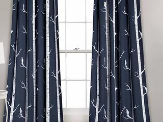Half Moon Room Darkening Insulated Window Curtains   Set of 2