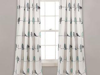 lush Decor Rowley Birds Room Darkening Curtain Panels   Set of 2
