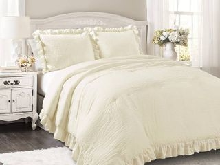 lush Decor Reyna 3 Piece Comforter Set   King