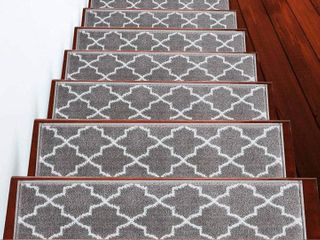 SUSSEXHOME Trellisville Collection Stair Treads Polypropylene 13 Pack