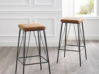 Strick   Bolton lomax 30 inch Faux leather Counter Stool  Set of 2
