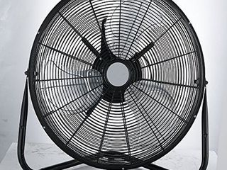 Pelonis FB50 17H 3 Speed 20 Inch High Velocity Indoor Floor Standing Fan  Black