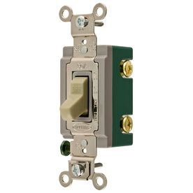 Hubbell 30 Amp Ivory Double Pole light Switch
