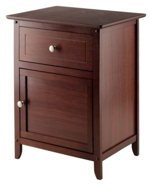 Winsome Wood Eugene Nightstand  Multiple Finishes comes with 2
