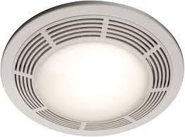 Broan Model 751 Fan light  100 CFM  3 5 Sones  Round White Grille with Glass lens