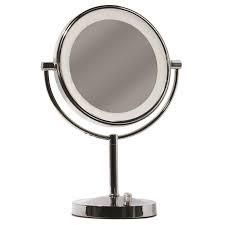 Giagni Vernon Polished Chrome Double sided Magnifying Countertop Vanity Mirror