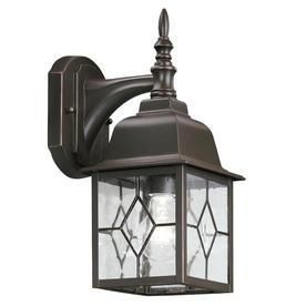 Portfolio litshire 13 5 in H Oil Rubbed Bronze Outdoor Wall light