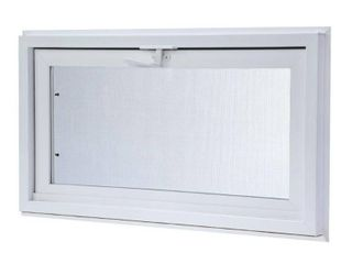 TAFCO WINDOWS 31 75 in  x 13 75 in  Hopper Vinyl Screen Window  White