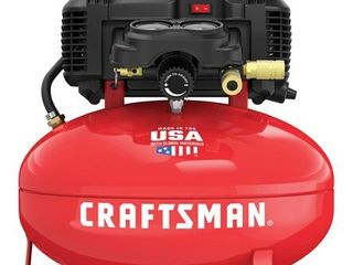 Craftsman 6 gal  Pancake Portable Air Compressor 150 psi 0 8 hp