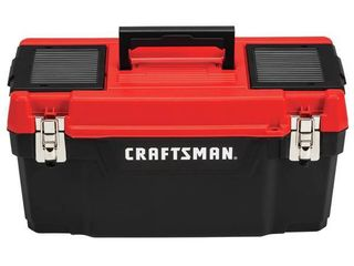 Craftsman 20 in  Plastic Tool Box 97 in  W x 9 75 in  H Black Red