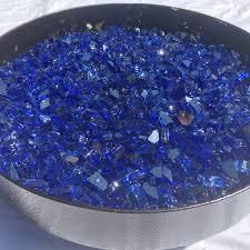 cobalt reflective fire glass