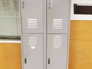 2  6ft Metal lockers