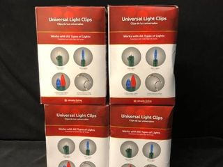 lot of 4 Universal light Clips location Under Shelf P3
