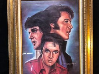 Framed Print Collage of Elvis Presley location near Shelf P4
