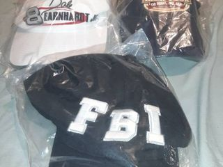 lot of 3 Baseball Hats  FBI Velcro Back  Dale Earnhardt Jr  Snapback  World Beer Tour Velcro Back