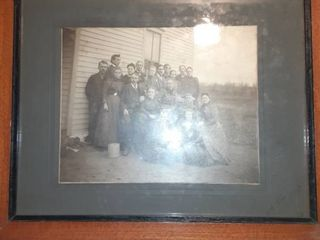 Vintage Framed Family Photograph