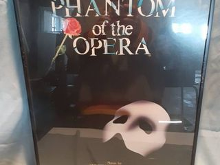 Framed Musical Poster of The Phantom of the Opera  Includes Ticket Stubs on Back of Framed Poster
