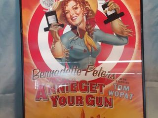Framed Musical Theatre Poster Featuring Bernadette Peter s in Irving Berlin s Annie Get Your Gun