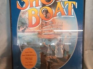 Framed Theatre Poster of Show Boat A Classical Musical Tail