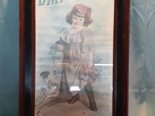 Framed Vintage Poster D M  Ferry   Co s Standard Seeds