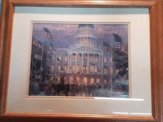 Framed Print by Thomas Kinkade of the White House