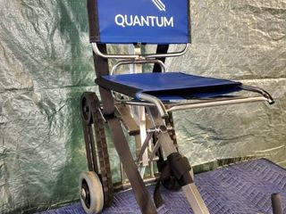 Quantum Blue Medical Chair with Stair Climbing Capability  and Adjustablr Height for Handle and Tension