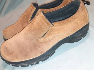 Womens lands End Brown Suede Mule Shoes Size 7