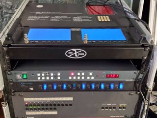 Routing Switcher by Knox Audio Visual Manager  with Kramer Audio Matrix Switcher  Technical PRO DVD Player  All Contained in a Signature Series Sliding laptop Shelf for all Mixer Racks  Tested and Working