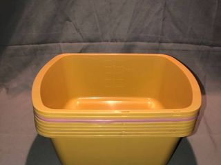 lot of 8 Small Plastic Tubs location Shelf 4