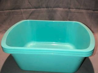 lot of 3 Small Plastic Tubs location Shelf 4