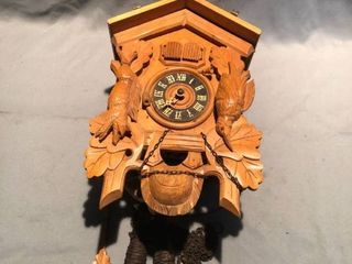 German Black Forest Wooden Cuckoo Clock location Shelf 4