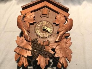 German Wooden Vintage Cuckoo Clock location Shelf 4