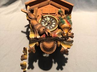 Wooden Cuckoo Clock Broken with Pieces location Shelf 4