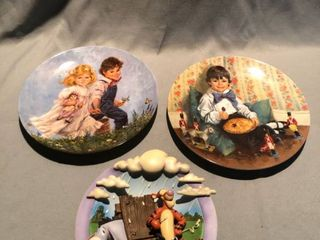 lot of 3 Decorative Kids Plates location Shelf 3