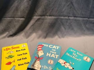 lot of 3 Dr  Seuss Books location Shelf 3