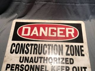 lot of 3 Danger Construction Zone Signs location Shelf 3