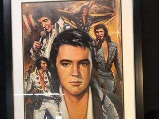 Framed Picture Collage of Elvis location bear Shelf P4