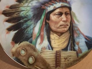 Power of The Blackfoot Painted Indian Plate