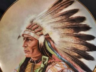 Courage of The Arapaho Painted Indian Plate