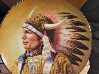 Nobility of The Algonquin Painted Indian Plate