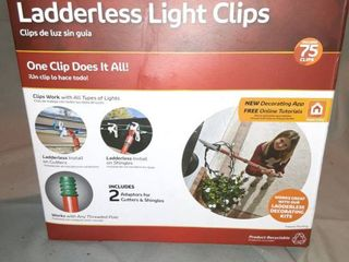 ladderless light Clips Box Contains 75 Clips