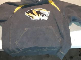 large Charcoal Gray Mizzou Hoodie Sweatshirt