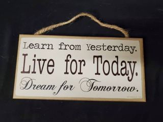 learn live Dream Plaque