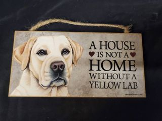 Yellow lab lover Plaque