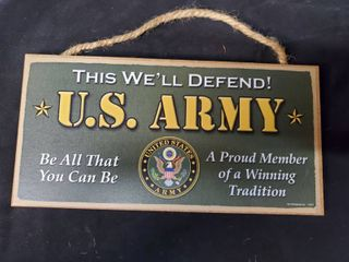 U S  Army Plaque